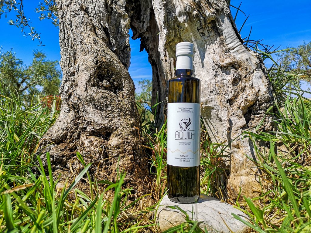 extra virgin olive oil bottle